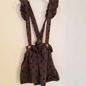 Zara baby suspender skirt